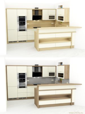 kuchyně s barem
