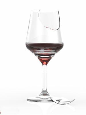 rozbitá sklenice
